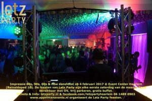 4 februari 2017 Letz Party 80s 90s 00s now Haarlem
