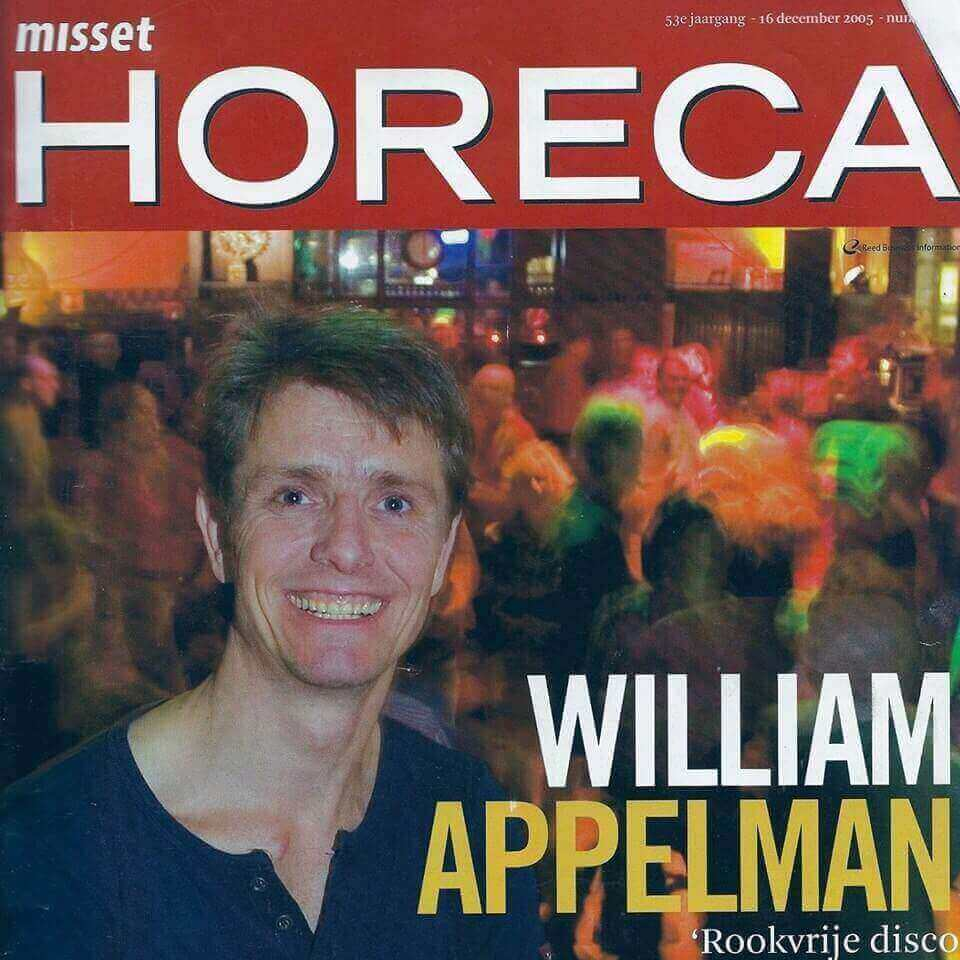 William Appelman of Appelman Events on front page Misset Horeca
