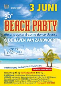 3 juni 2017 Beach Party Strandfeest Zandvoort