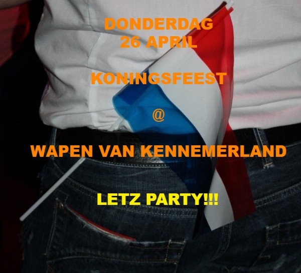 26 april Koningsfeest met Disco & Dance Mix @ Wapen van Kennemerland