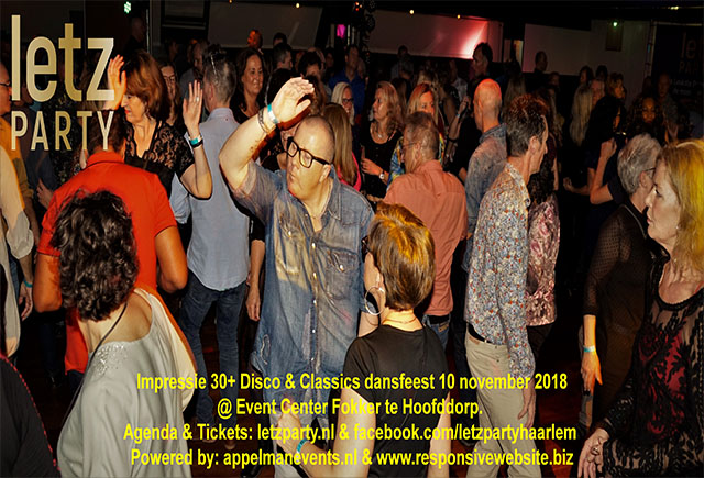 10 november 2018 Disco & Upbeat Classics dansfeest @ Event Center Fokker