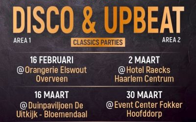 Agenda until the end of April. Saturday February 16 Letz Party @Orangerie Elswout Overveen for 30up 40up & 50up