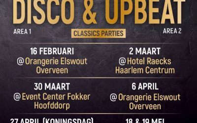 DJ Caspar & DJ Robbie Saturday 16 February @Orangerie Elswout Overveen Letz Party 30+ 40+ 50+