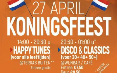 27 april Koningsfeest. Team uitjes met www.AppelmanEvents.nl